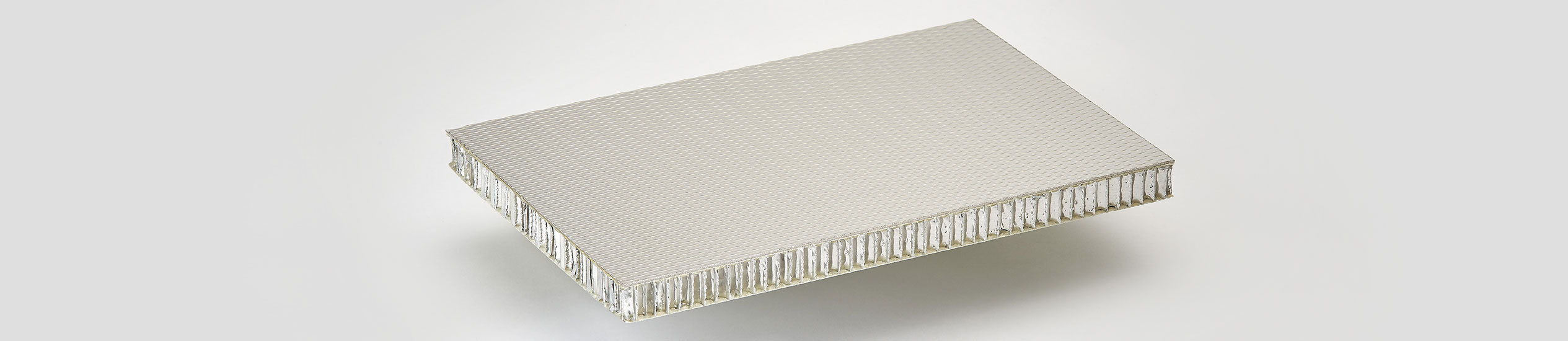Lightweight sandwich panel with a core in aluminium honeycomb with glass fiber reinforced with epoxy resin and a skin in stainless steel satin finished.